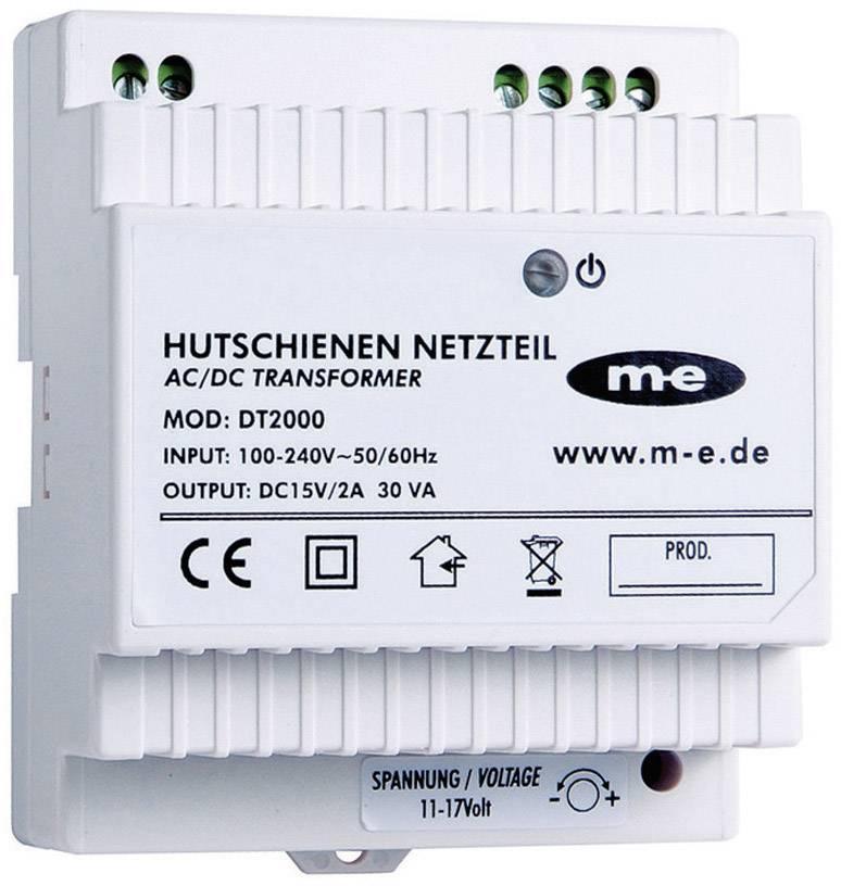 Dverový telefón m-e modern-electronics HUTSCHIENEN-NETZTEIL DT 2000 40778, biela