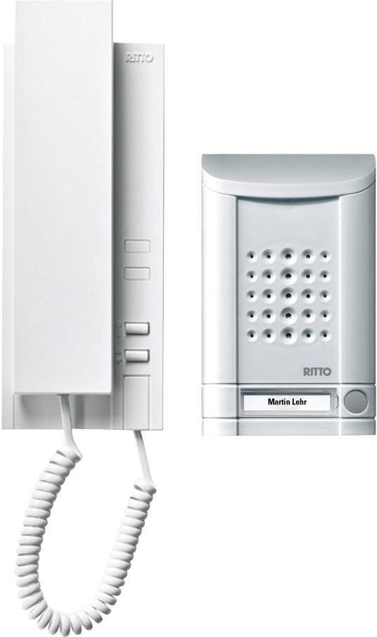 Káblový dverový telefón Ritto by Schneider SET MINIVOX - AUDIO 1673120, hliník