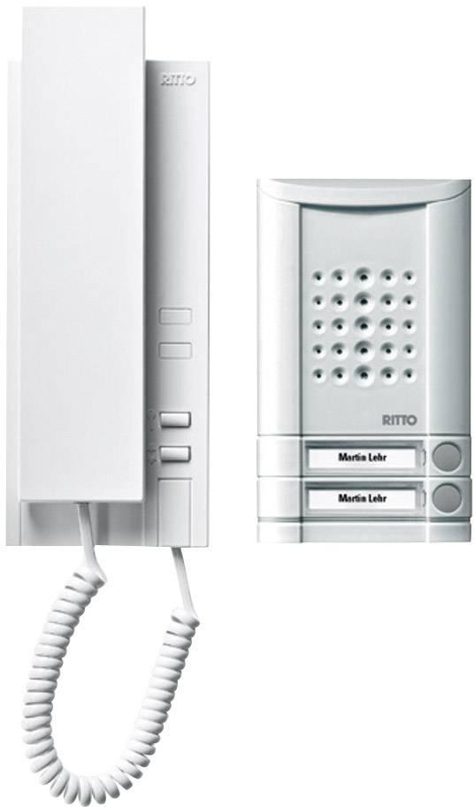 Káblový dverový telefón Ritto by Schneider SET MINIVOX - AUDIO 1673220, hliník