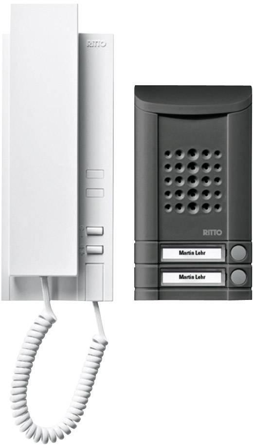 Káblový dverový telefón Ritto by Schneider SET MINIVOX - AUDIO 1673240, čierna