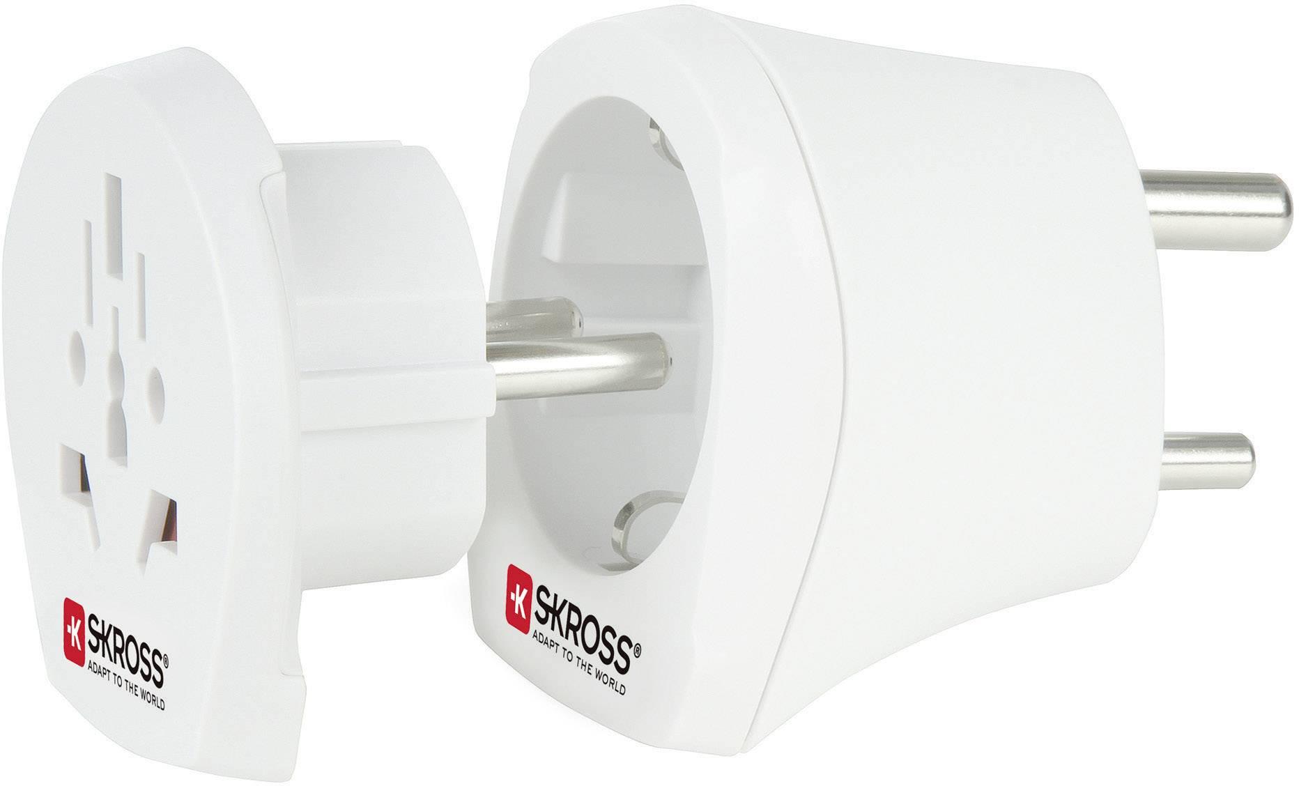 Cestovní adaptér Skross, 1.500215, Indie, bílá