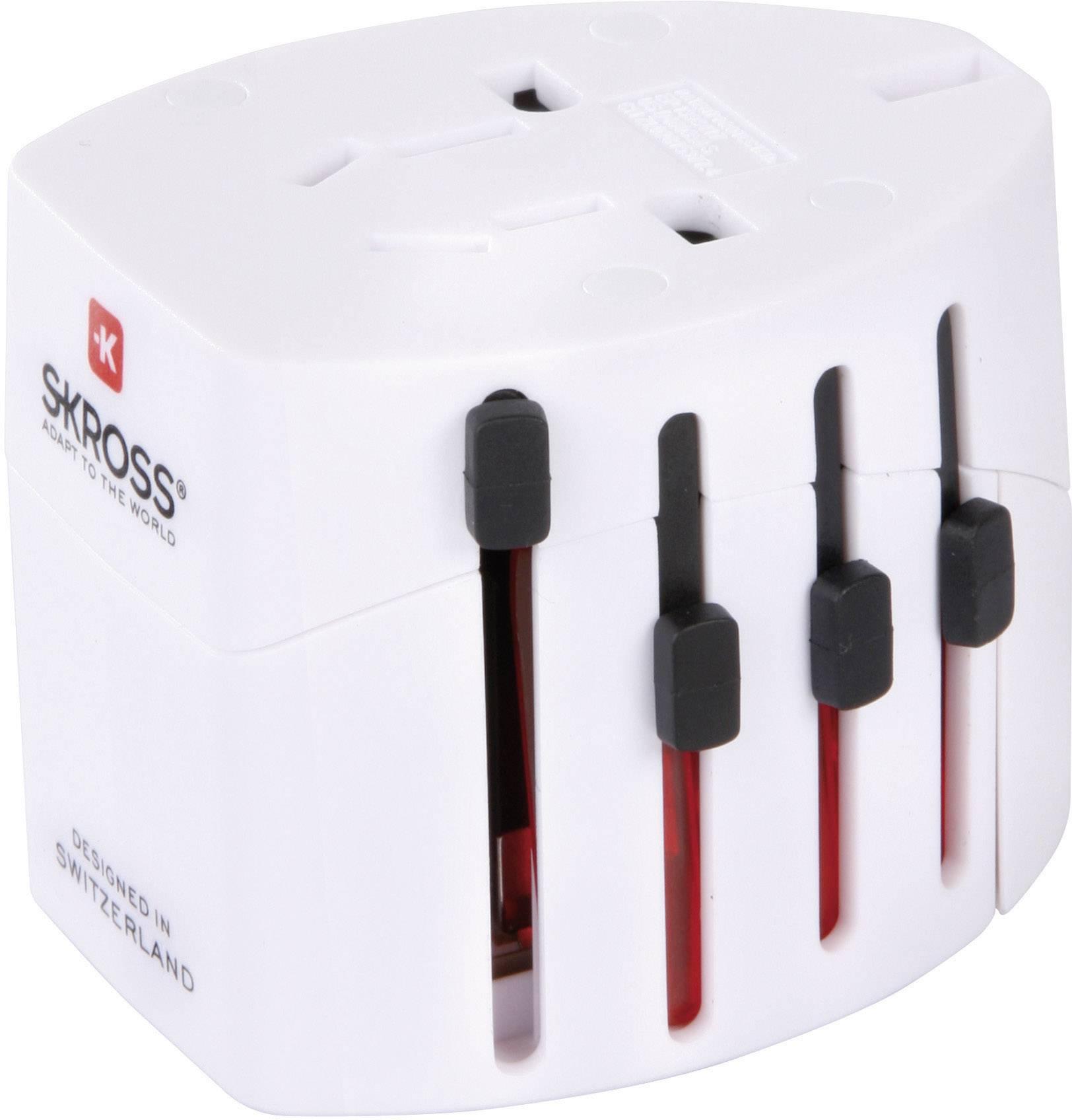 Cestovní adaptér EVO Skross, 1.102100, bílá