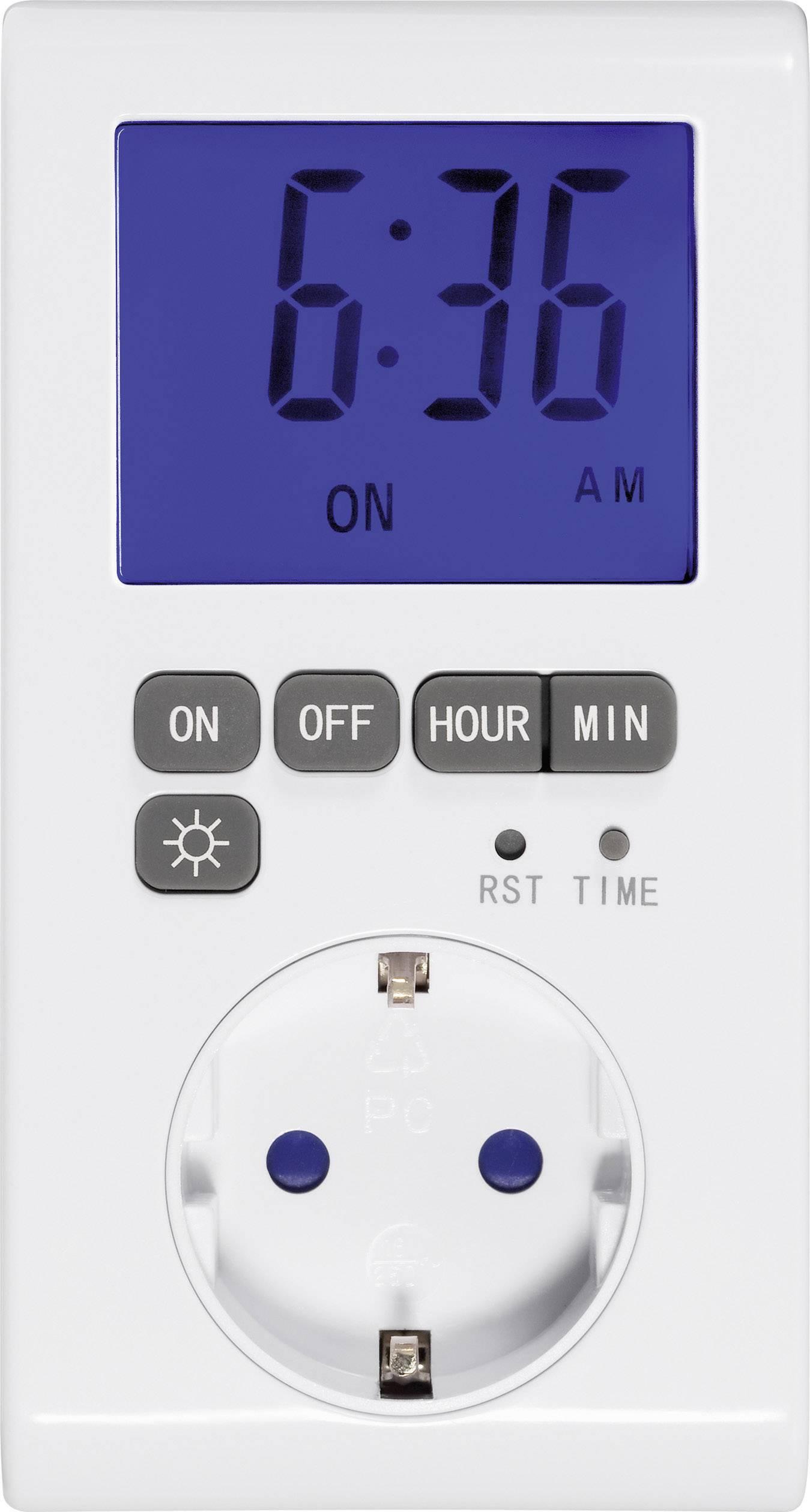 Digitálne denné spínacie hodiny s podsvieteným displejom GAO, 1 prog.