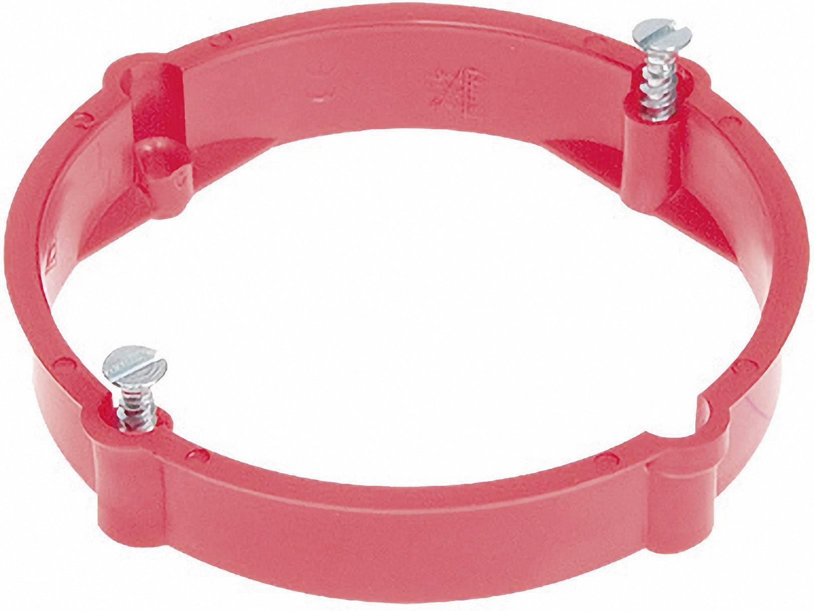 Nastavovací krúžok pre dvojitú inštalačnú krabicu, 70/24 mm, červený