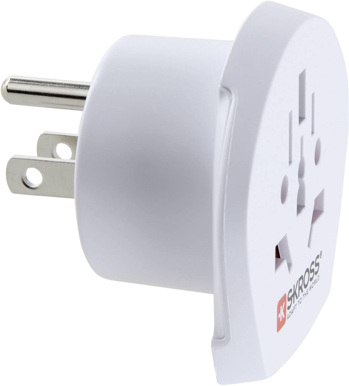 Cestovní adaptér Skross, 1.500221, USA, bílá