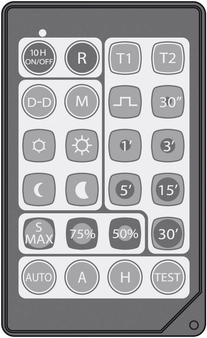 Dálkové IR ovládání pro detektory pohybu Grothe, 94538