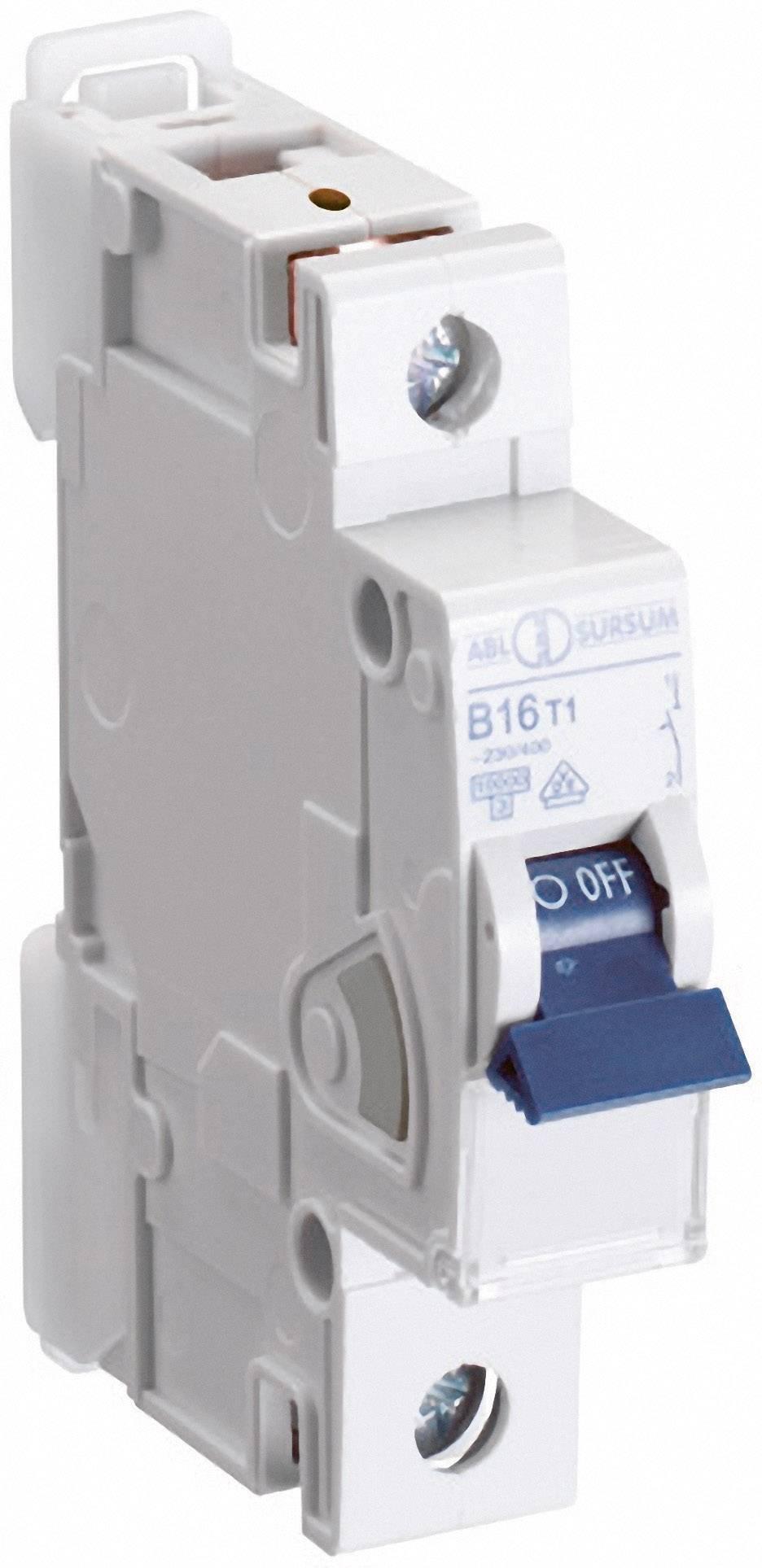 Elektrický istič ABL Sursum B16T1, 1-pólový, 16 A