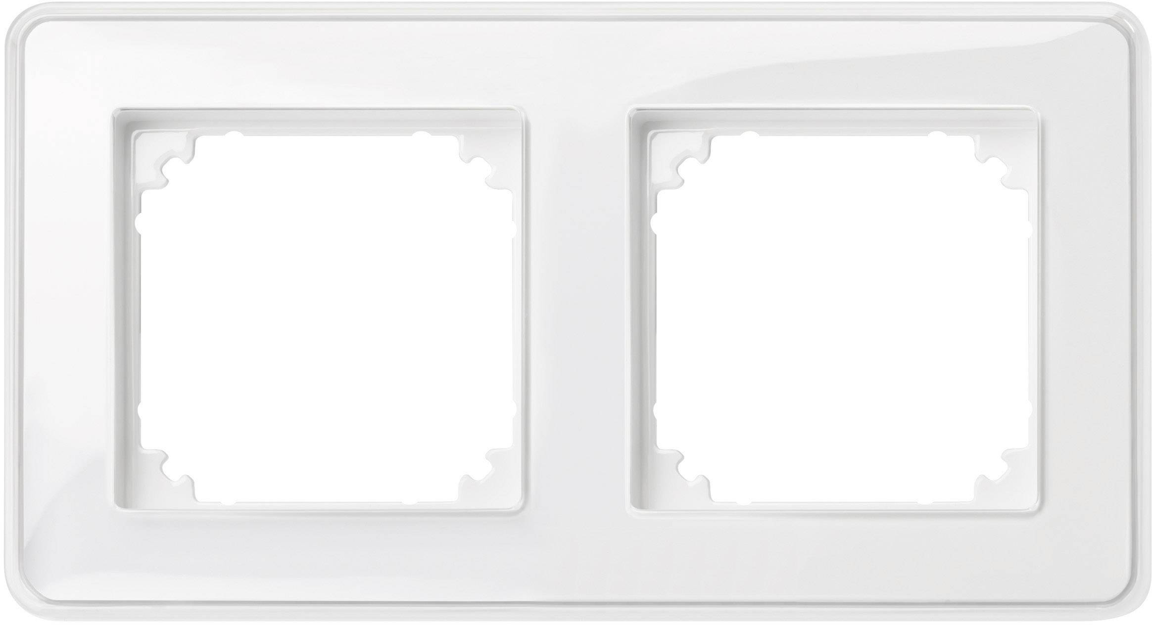 Rámeček 2násobný Merten M-Creativ, polární bílá (MEG4020-3500)