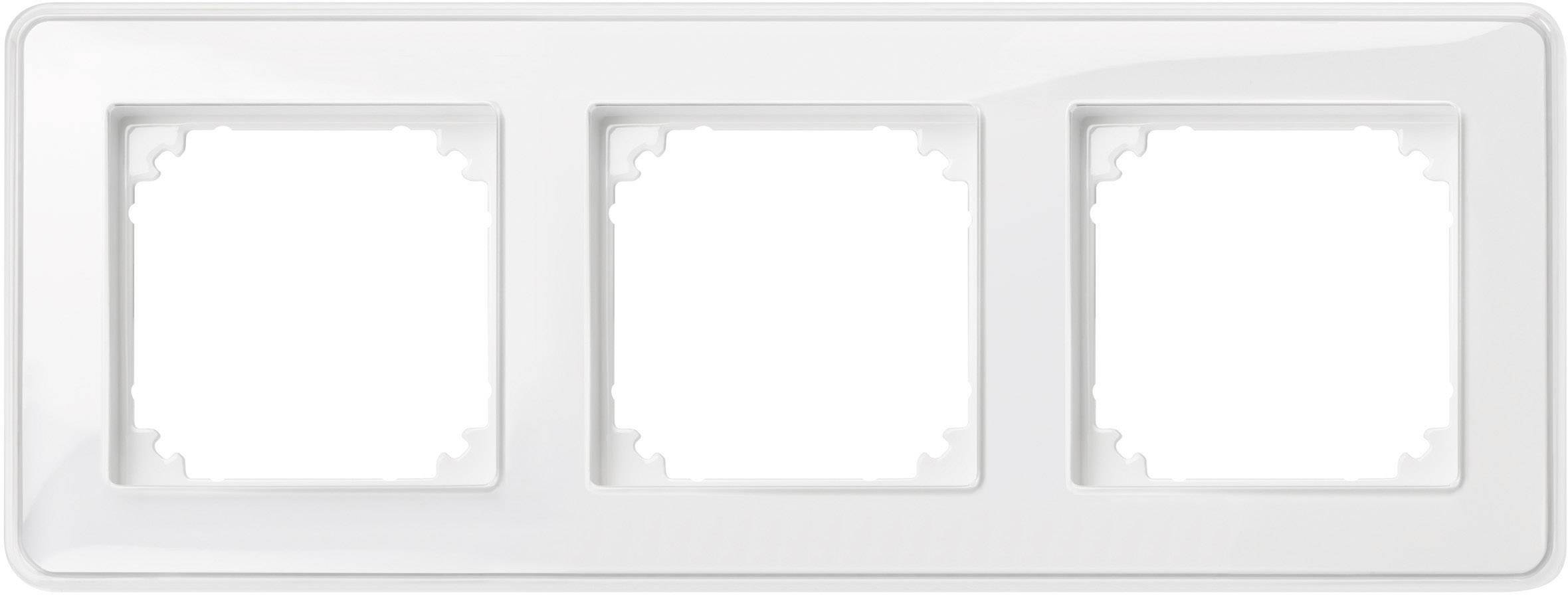 Rámeček 3násobný Merten M-Creativ, polární bílá (MEG4030-3500)