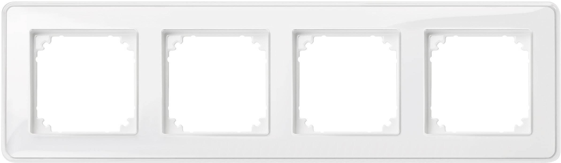 Rámeček 4násobný Merten M-Creativ, polární bílá (MEG4040-3500)