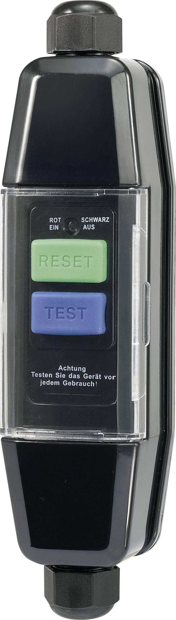 Prúdový chránič na kábel 230 V IP55, 10 mA, čierna