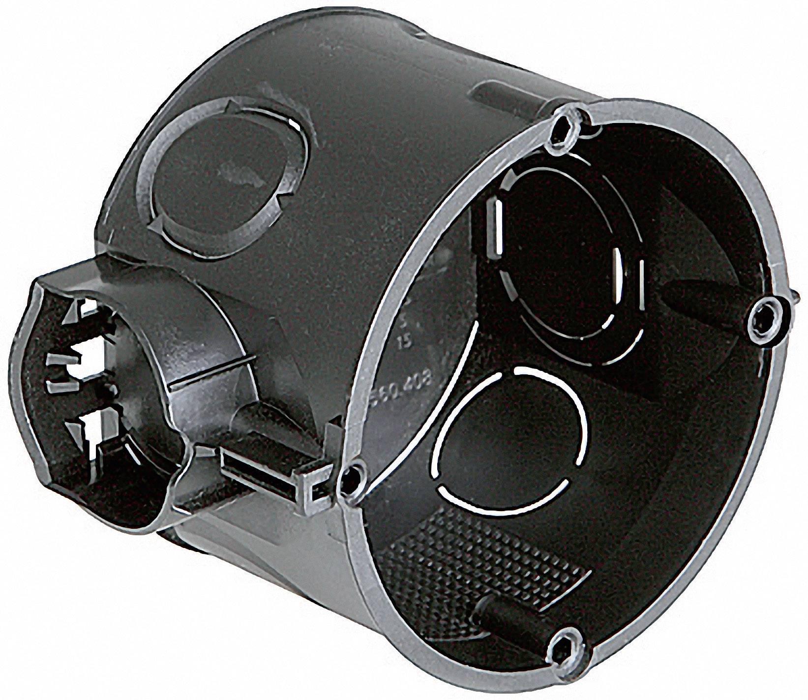 Inštalačná krabica Kaiser Elektro 1055-04, bez skrutiek, 60 x 46 mm, čierna