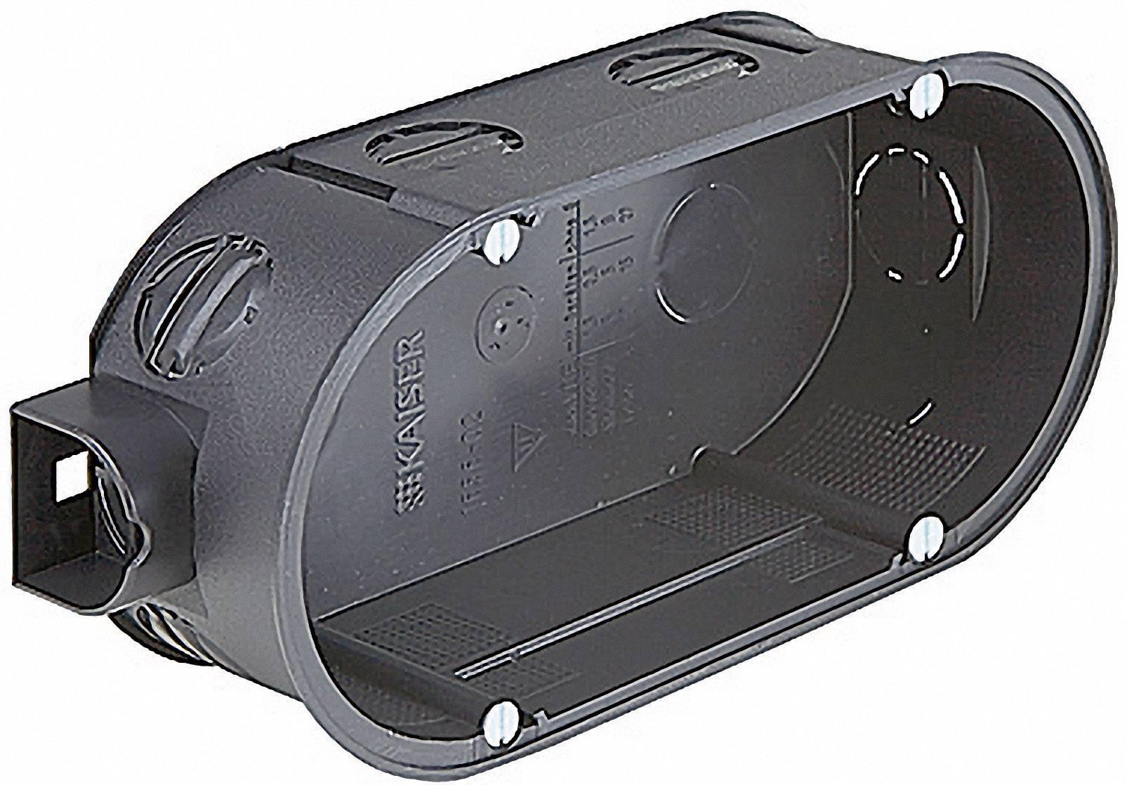 Dvojitá prepojovacia krabica Kaiser Elektro 1656-02, vrátane skrutiek