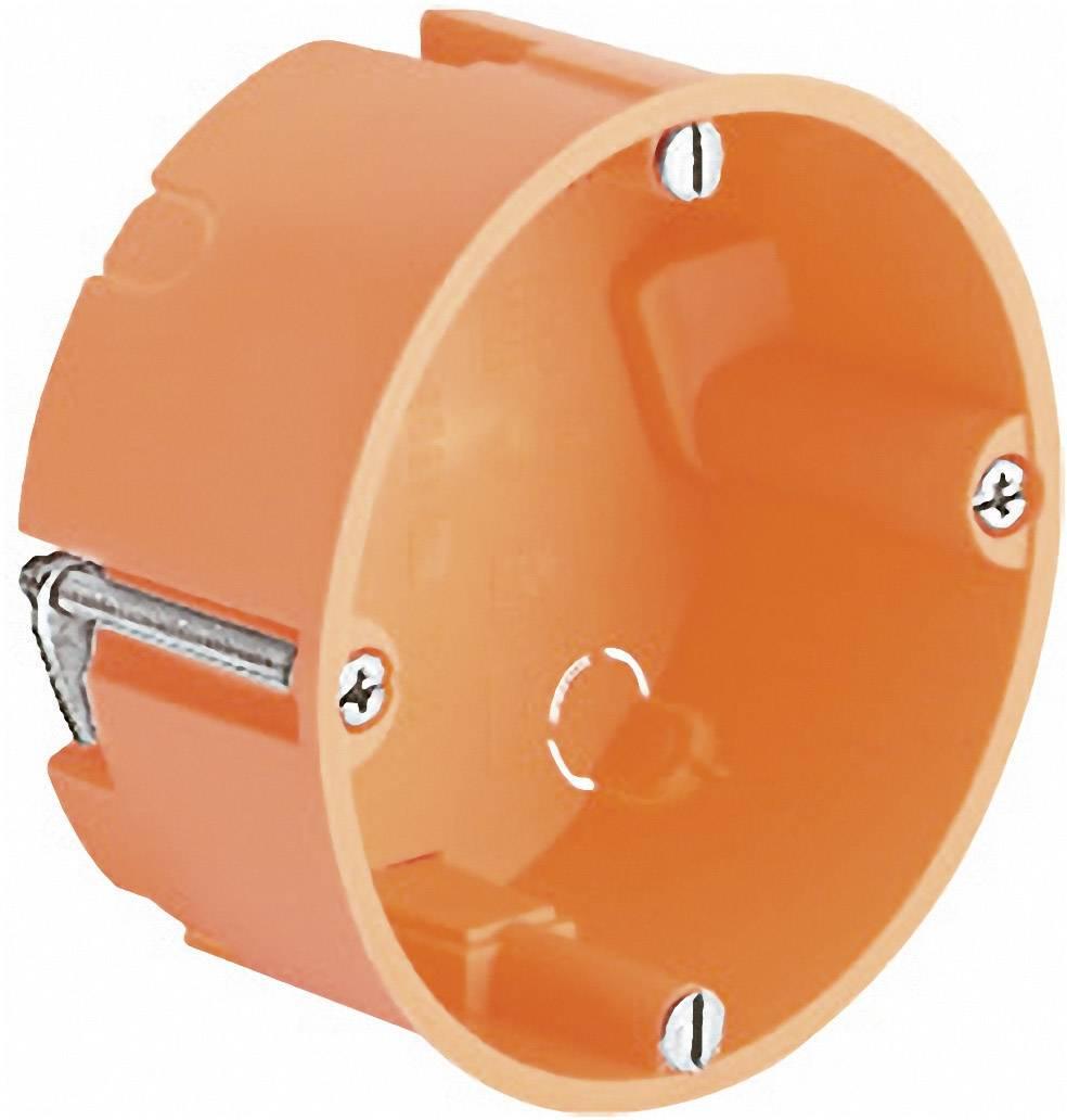 Inštalačná krabica Kaiser Elektro 9061-00 do dutých stien, 68 x 35 mm, oranžová