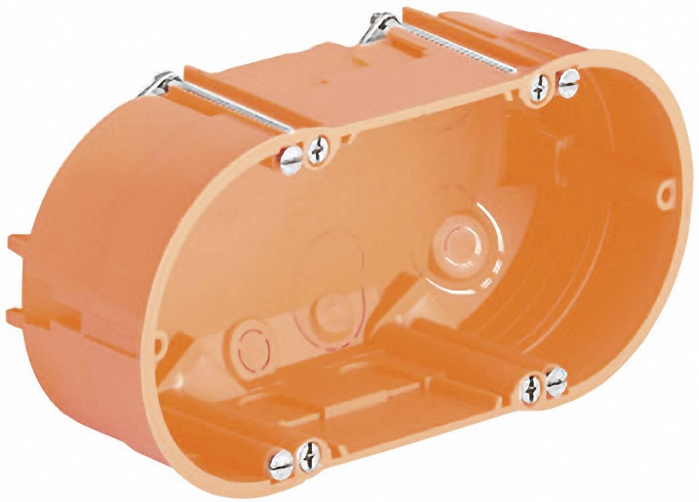 Dvojkomorová krabica do dutých stien Kaiser Elektro 9062-02 na osvetlenie, 68 x 47 mm, oranžová