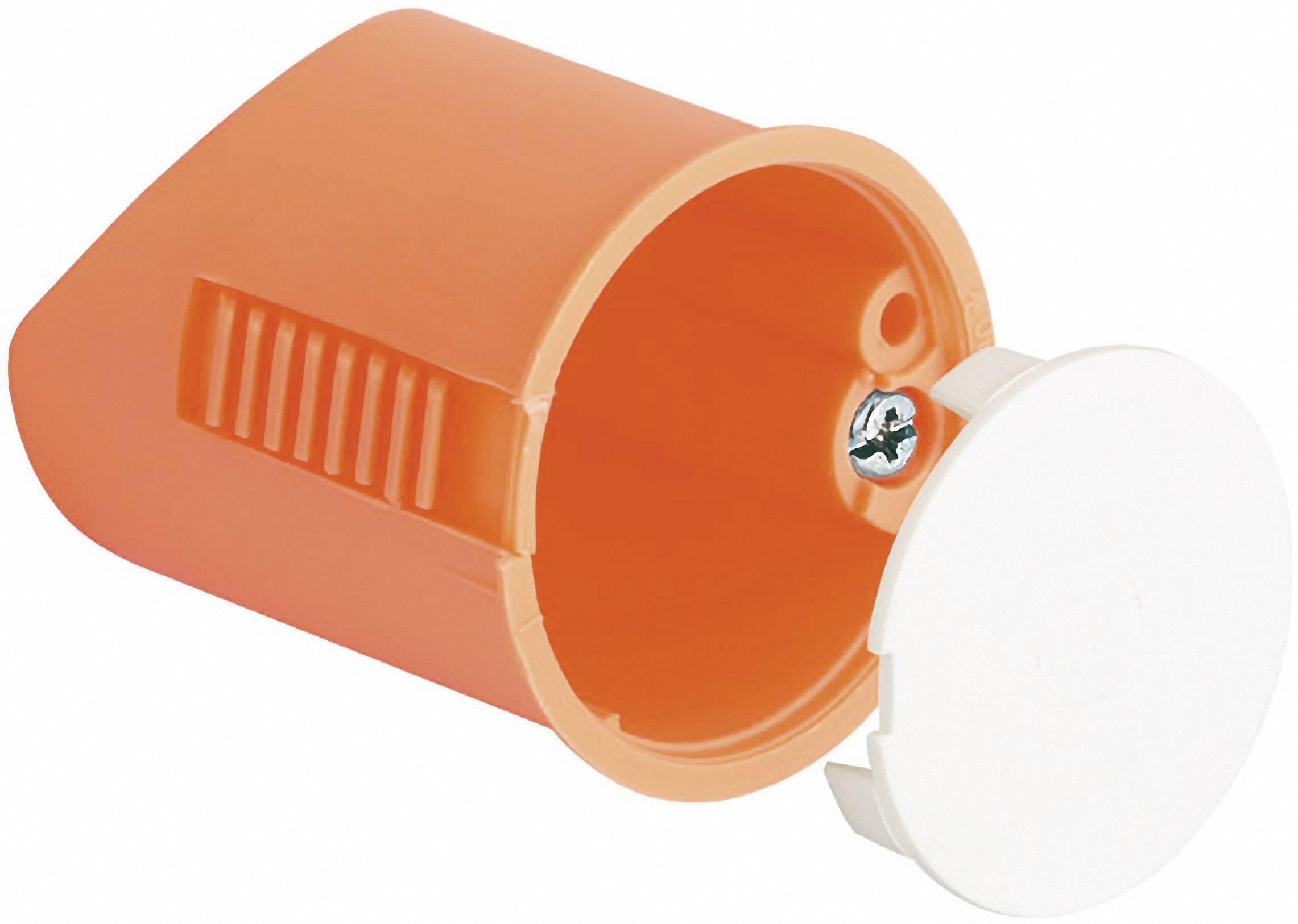 Inštalačná krabica Kaiser Elektro 9248-01 pre nástenné svietidlá, s krytkou, 35 x 40 mm, oranžová