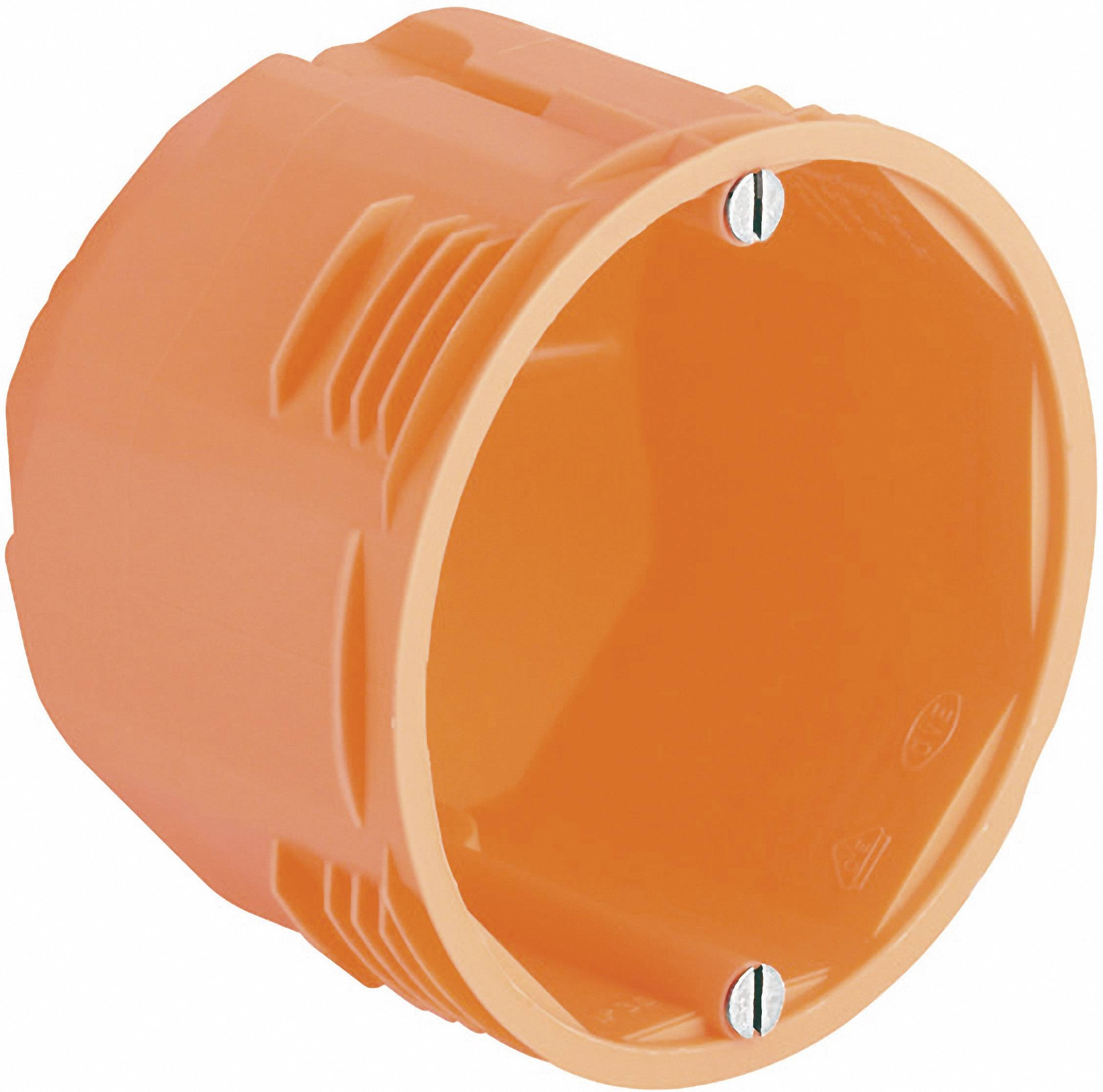 Inštalačná krabica Kaiser Elektro, 9066-12, pre inštaláciu do masívneho dreva, 68 x 65 mm, oranžová