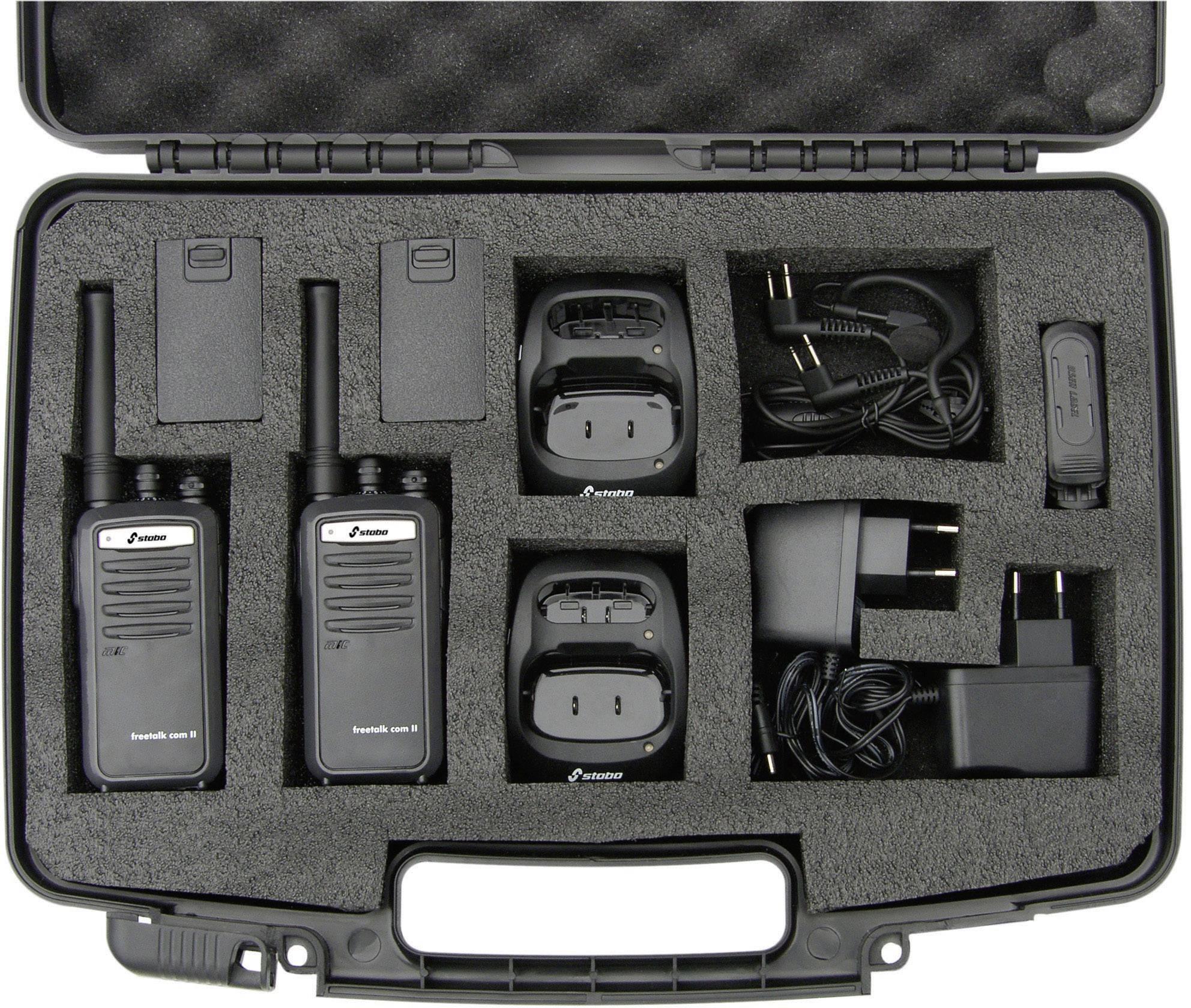 PMR rádiostanica Stabo Freetalk Com II, sada 2 ks v kufríku