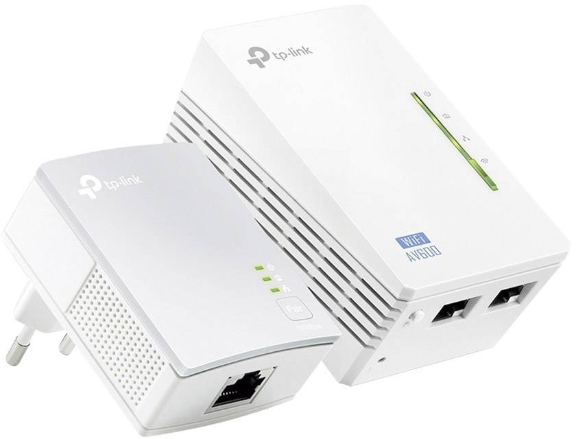 Powerline Wi-Fi Starter Kit TP-LINK TL-WPA4220KIT, 600 Mbit/s