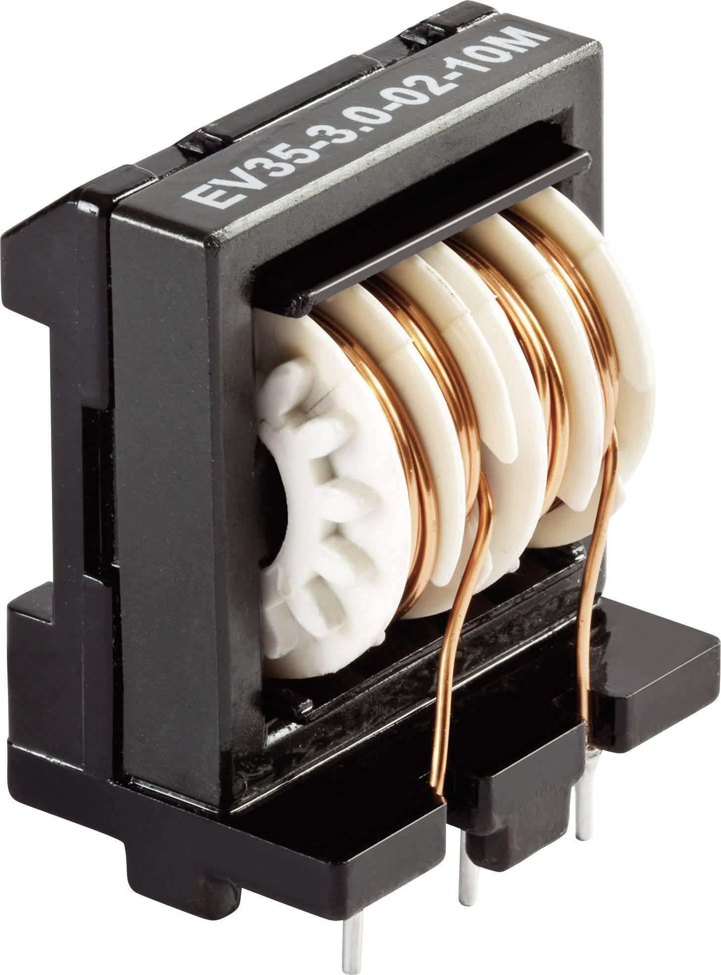 Síťový filtr do DPS Schaffner, EV20-1,0-02-3M9, 3,9 mH, 250 V/AC, 1 A