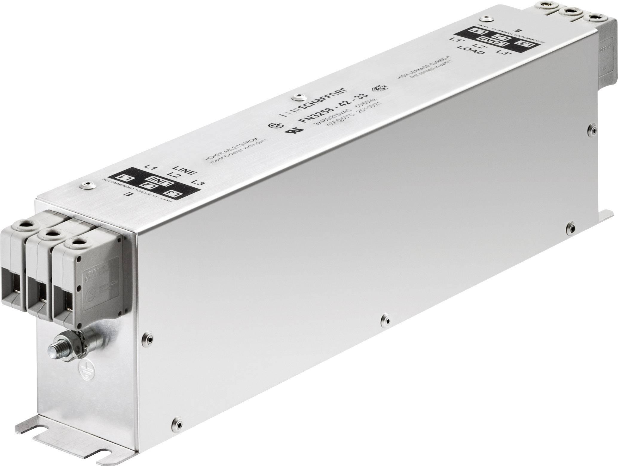 Odrušovací filter Schaffner FN3258-16-44 FN3258-16-44, 277 V/AC, 480 V/AC, 16 A, (d x š x v) 250 x 45 x 70 mm, 1 ks