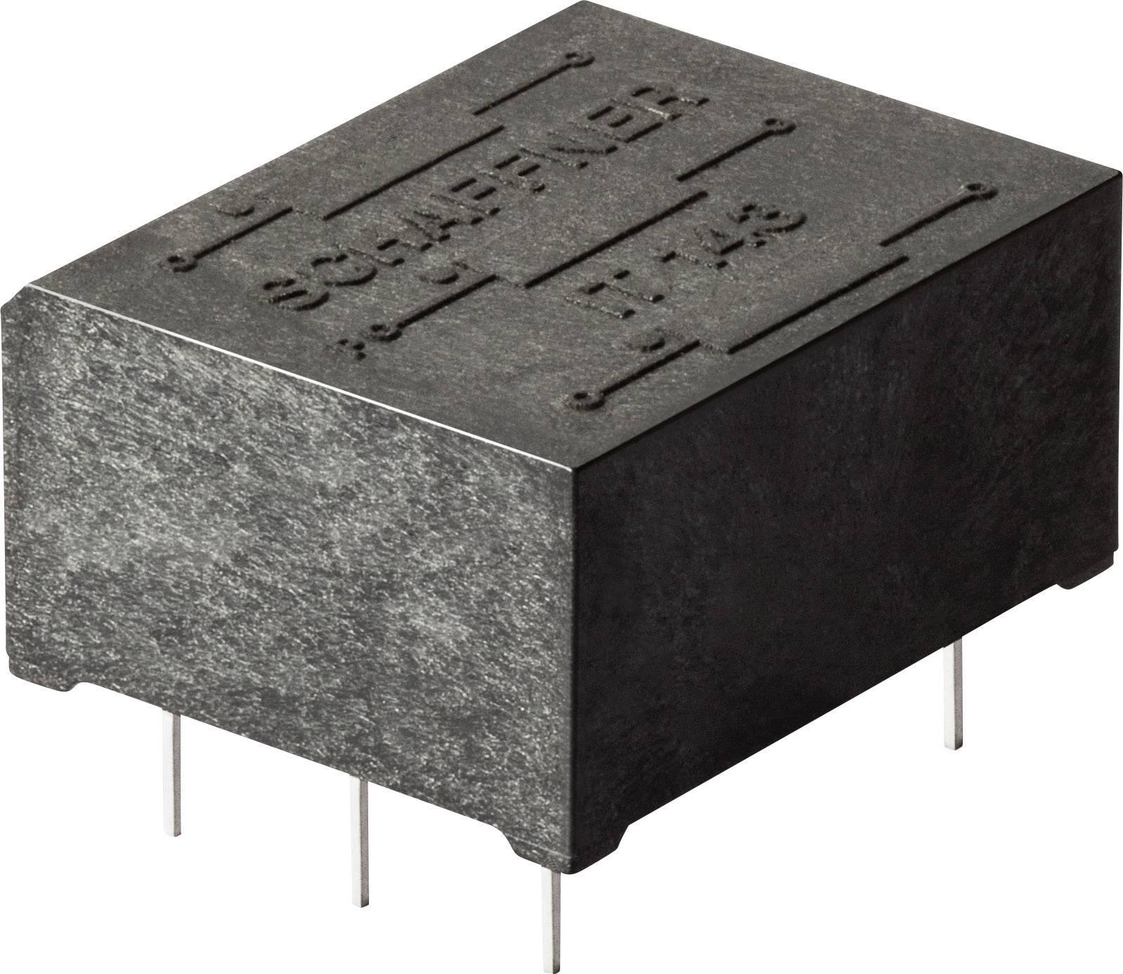 Pulzný transformátor Schaffner IT253 IT253, 500 V, 1.1 mH, (d x š x v) 17.6 x 16.7 x 11.3 mm, 1 ks