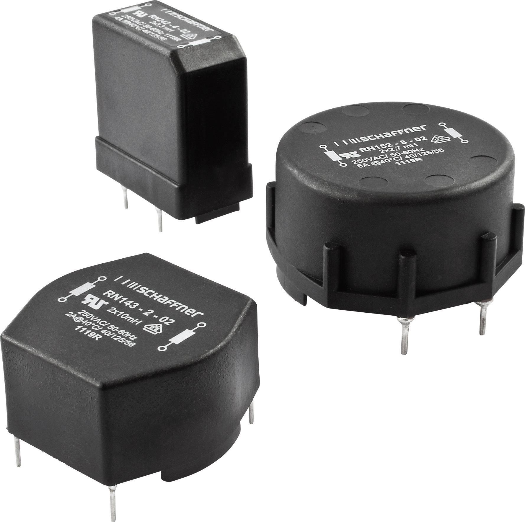 Odrušovací filter Schaffner RN152-8-02 RN152-8-02, 250 V/AC, 8 A, 2.7 mH, (d x š x v) 41.8 x 43 x 25 mm, 1 ks