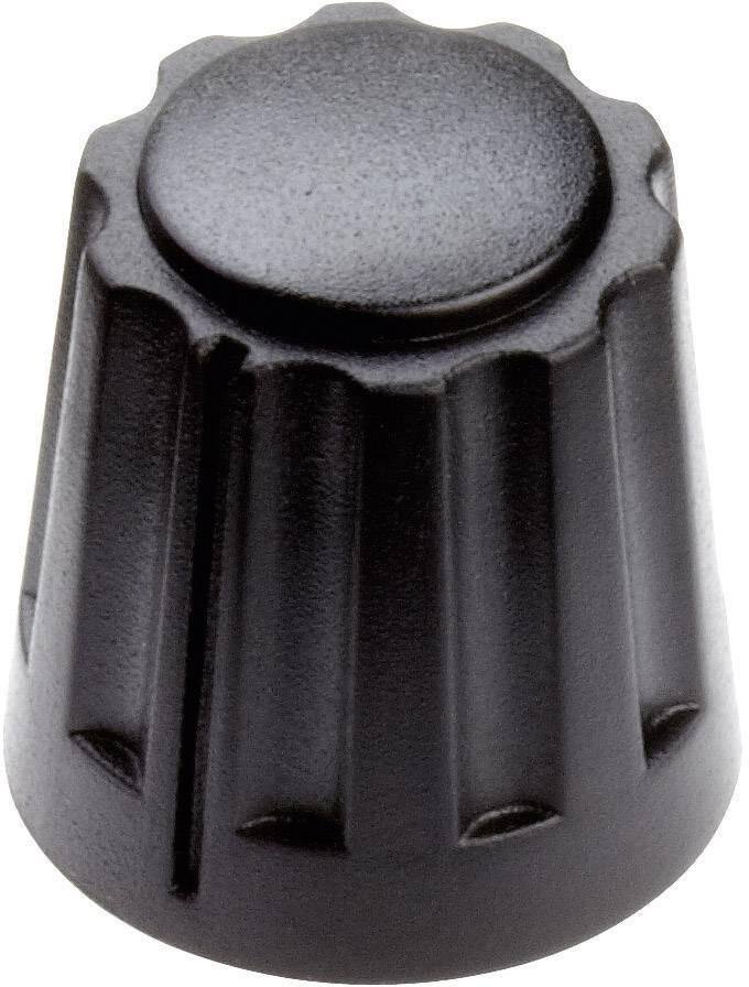 Otočný gombík Mentor 4331.4000, (Ø x v) 14.5 mm x 14 mm, čierna, 1 ks