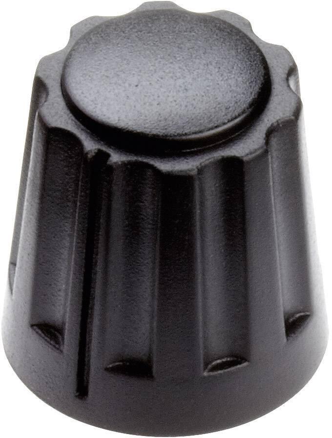 Otočný gombík Mentor 4331.6000, (Ø x v) 14.5 mm x 14 mm, čierna, 1 ks