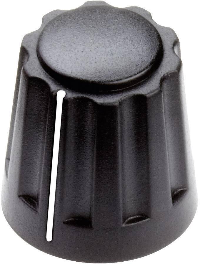 Otočný gombík Mentor 4331.6001, (Ø x v) 14.5 mm x 14 mm, čierna, 1 ks