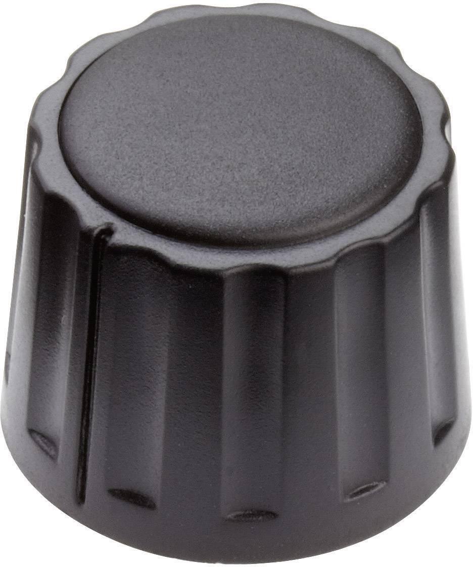 Otočný gombík Mentor 4332.4000, (Ø x v) 20 mm x 15 mm, čierna, 1 ks