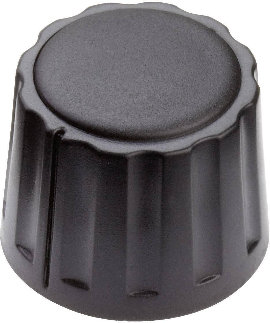 Otočný gombík Mentor 4332.6000, (Ø x v) 20 mm x 15 mm, čierna, 1 ks