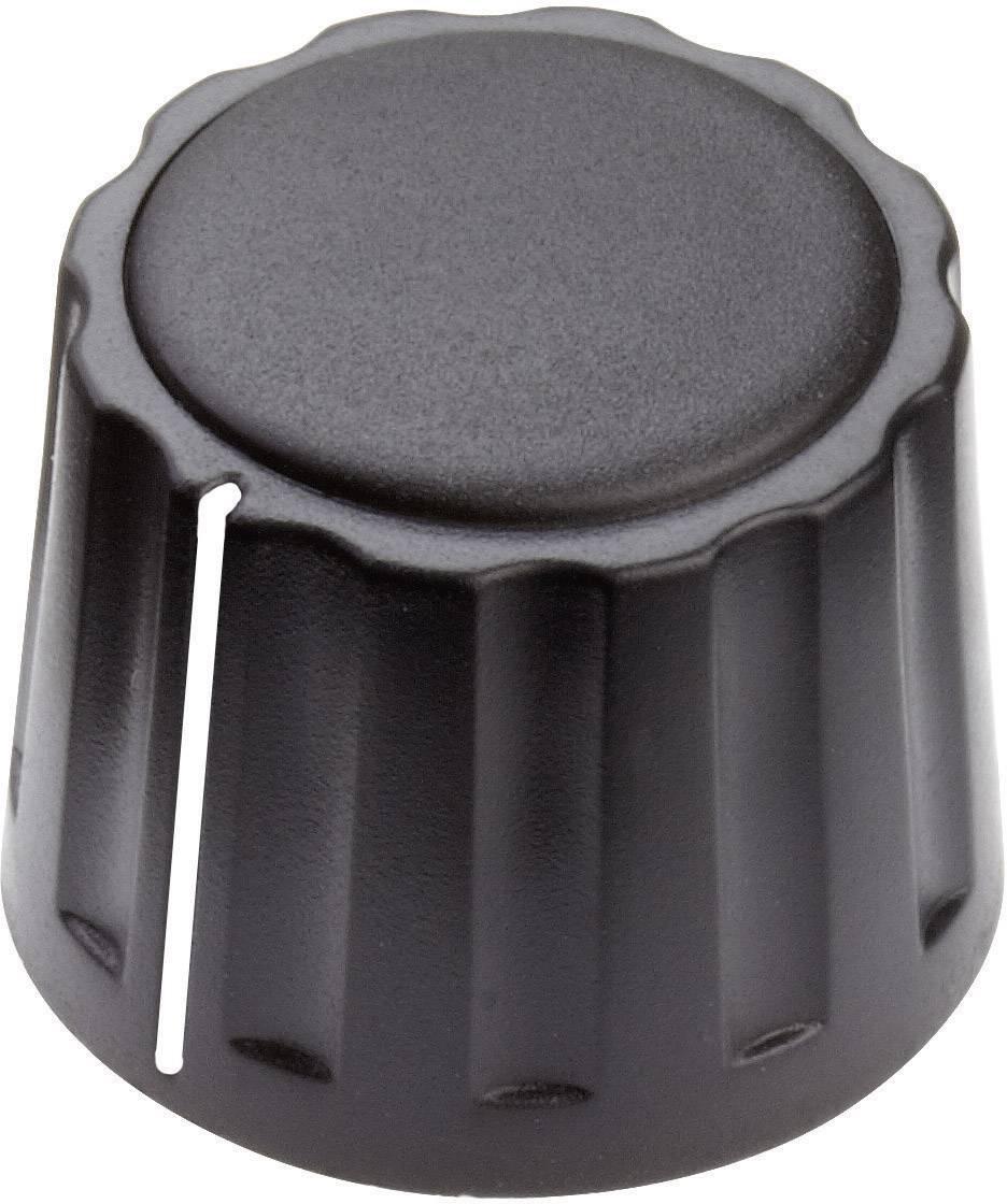 Otočný gombík Mentor 4332.6001, (Ø x v) 20 mm x 15 mm, čierna, 1 ks