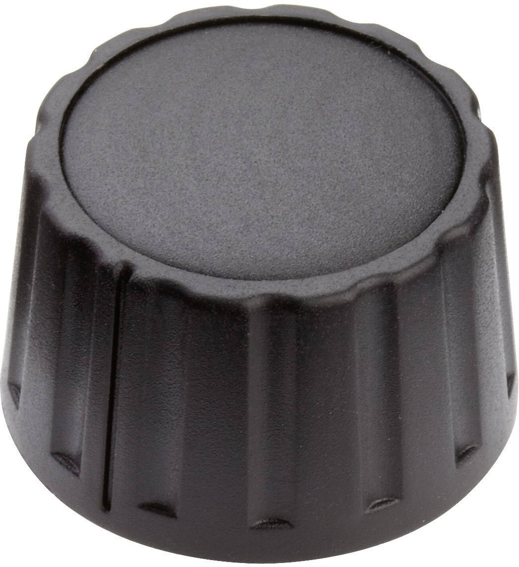Otočný gombík Mentor 4333.6000, (Ø x v) 28 mm x 17 mm, čierna, 1 ks