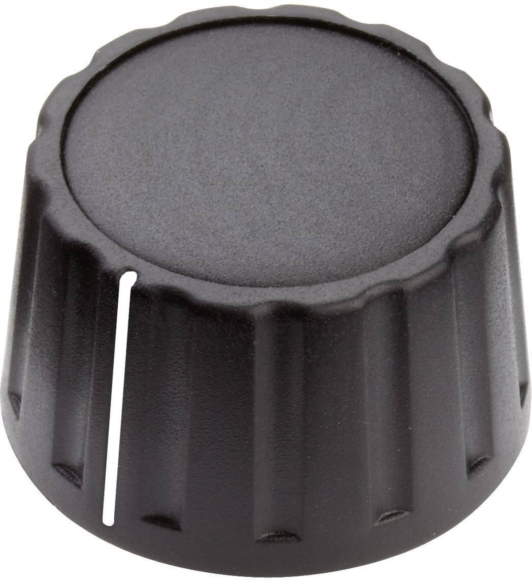 Otočný gombík Mentor 4333.6001, (Ø x v) 28 mm x 17 mm, čierna, 1 ks