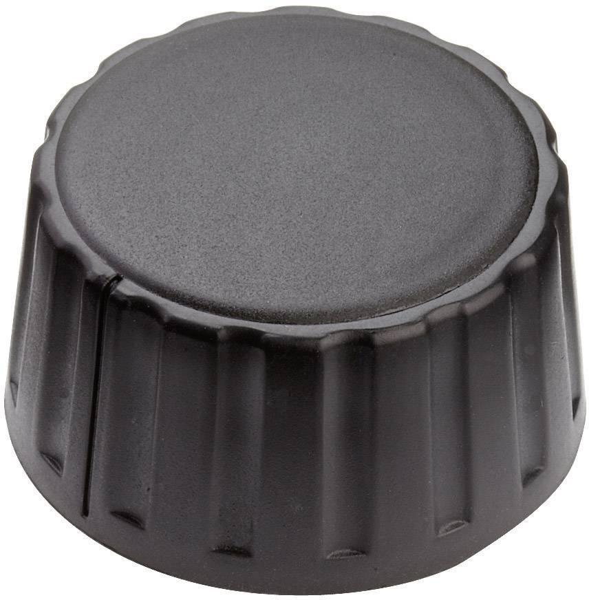 Otočný gombík Mentor 4334.6000, (Ø x v) 36 mm x 18.5 mm, čierna, 1 ks