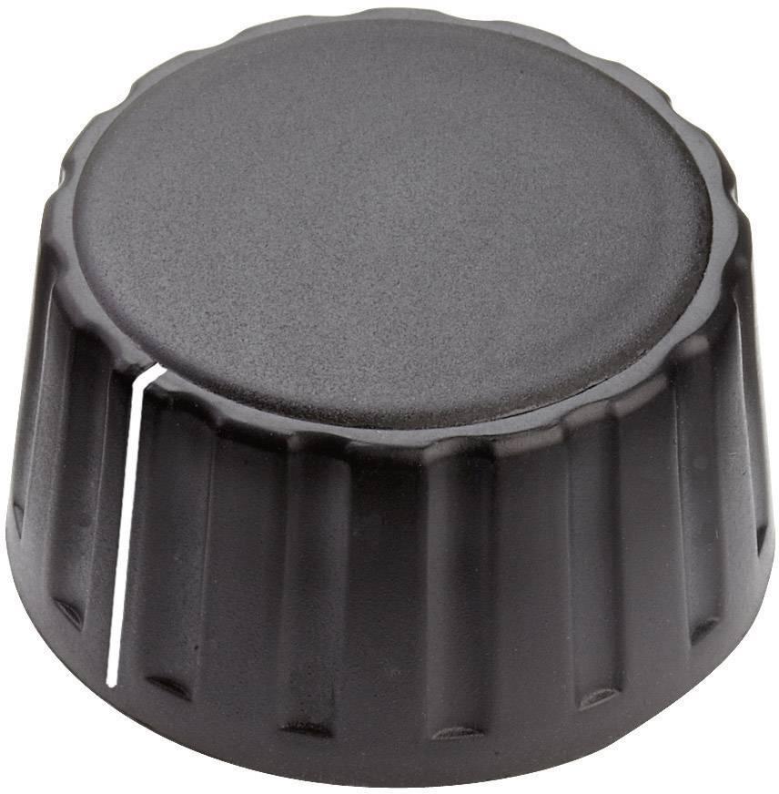 Otočný gombík Mentor 4334.6001, (Ø x v) 36 mm x 18.5 mm, čierna, 1 ks
