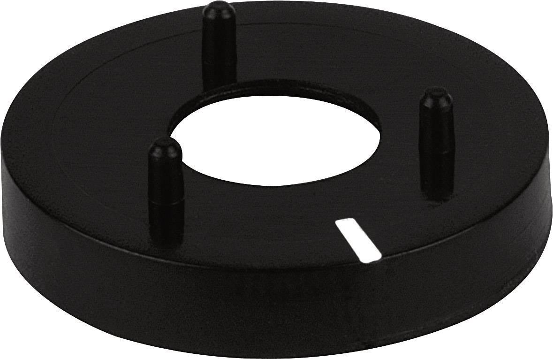 Krytka matice na knoflík (/O 14,5 mm) Mentor 331130, černá