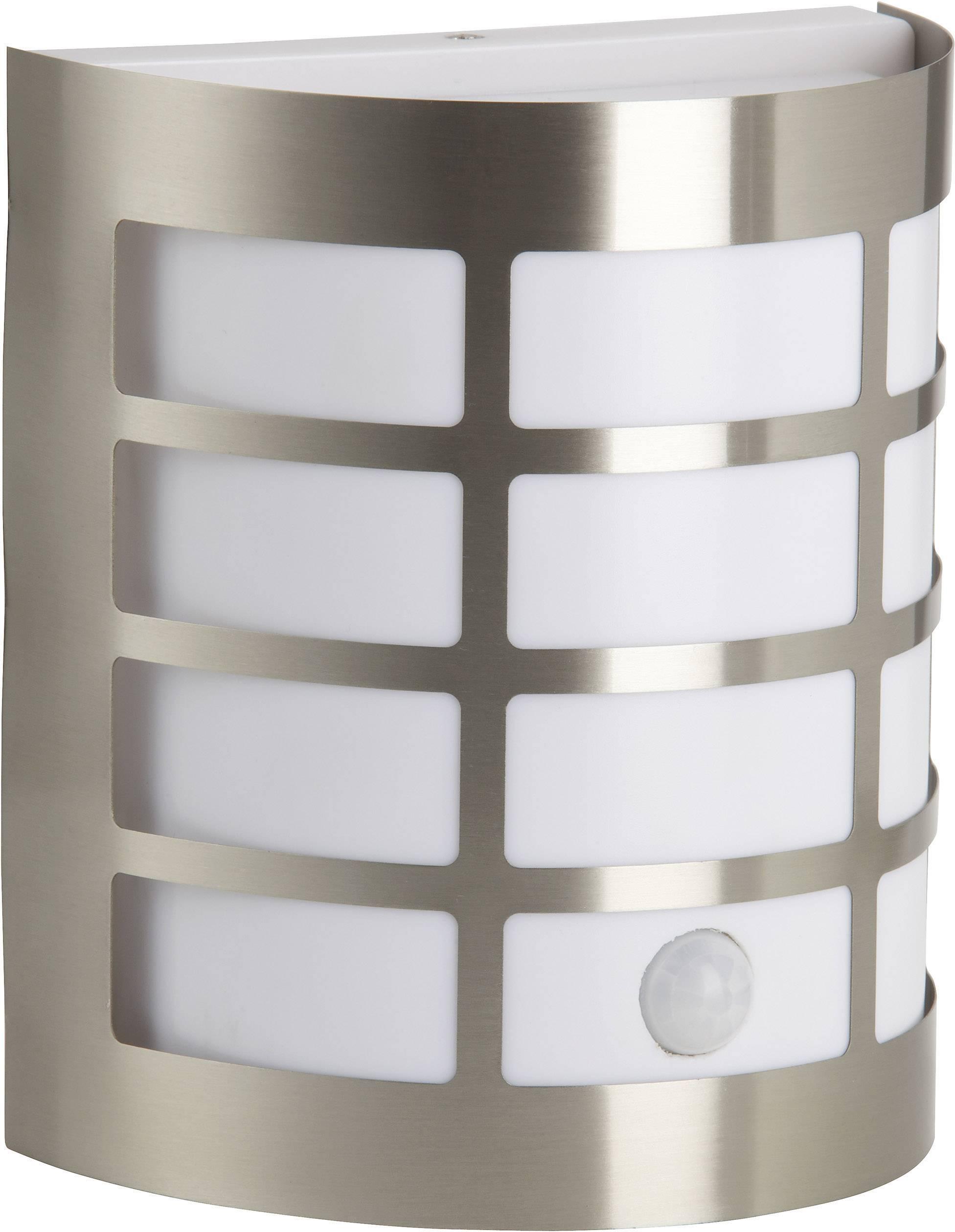 Vonkajšie nástennéosvetleniesPIR senzorom Brilliant Rune 96183/82, E27, 60 W, ušľachtilá oceľ, nerezová oceľ