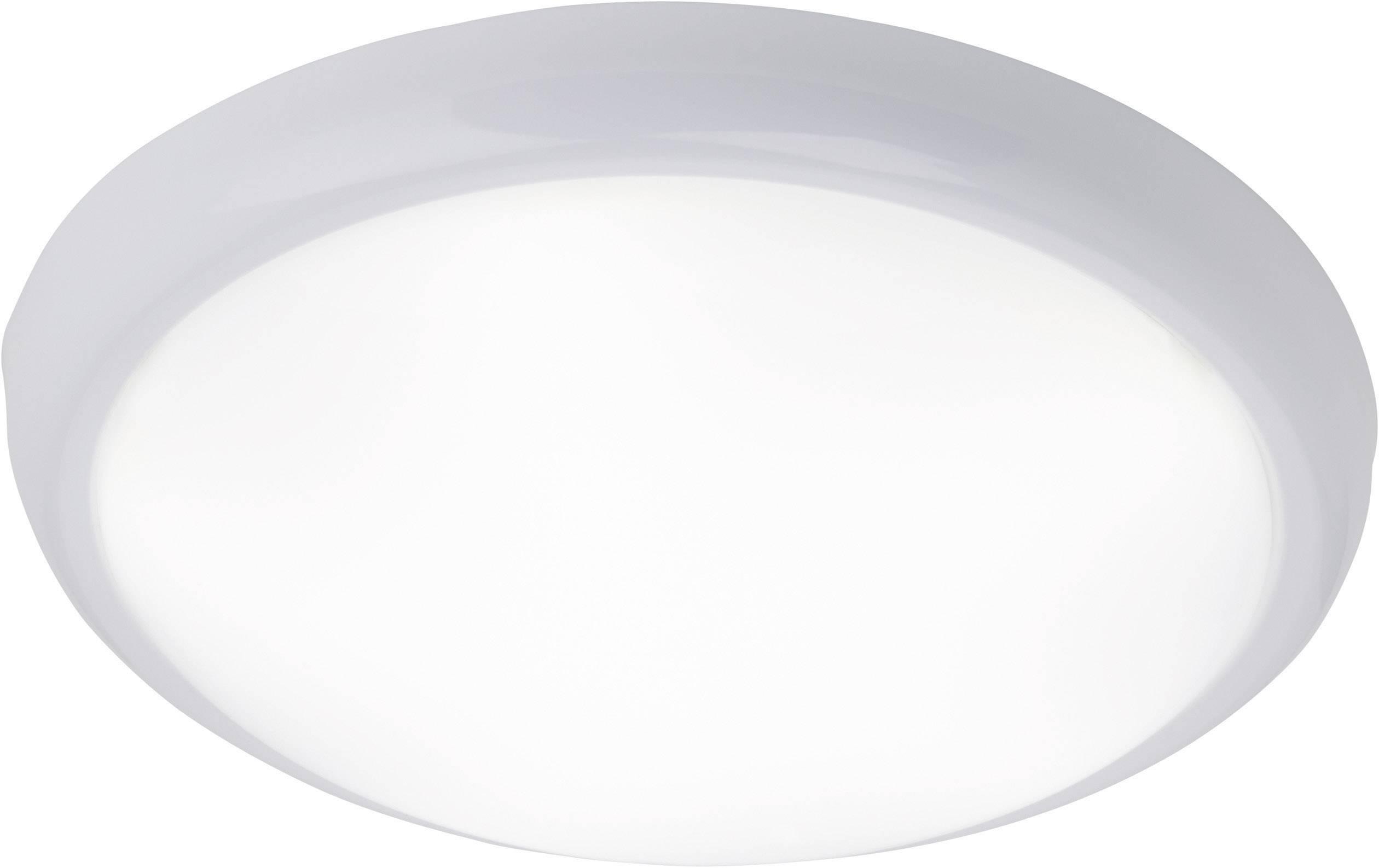 LED stropné svietidlo Brilliant Vigor G94131/05, 15 W, vonkajší Ø 33 cm, chladná biela, železo, biela