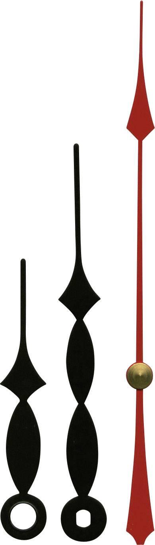 Sada hodinových ručiček Classic (h x m x s) 60 mm x 85 mm x 115 mm, hliník, černá