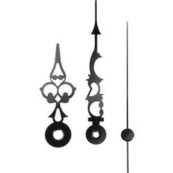 Sada hodinových ručičiek (h x m x s) 51 mm x 76 mm x 70 mm, hliník, čierna