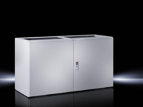 Spodný diel skrinky na ovládacie pulty Rittal TP 6706.500, 1200 x 675 x 500 mm, oceľový plech, svetlo sivá (RAL 7035), 1 ks