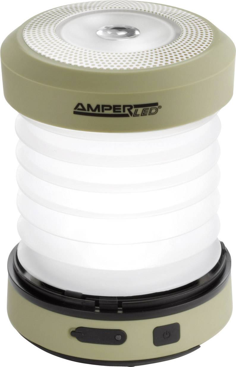 LED campingové osvetlenie Ampercell Monica 10429, 168 g, olivovo zelená