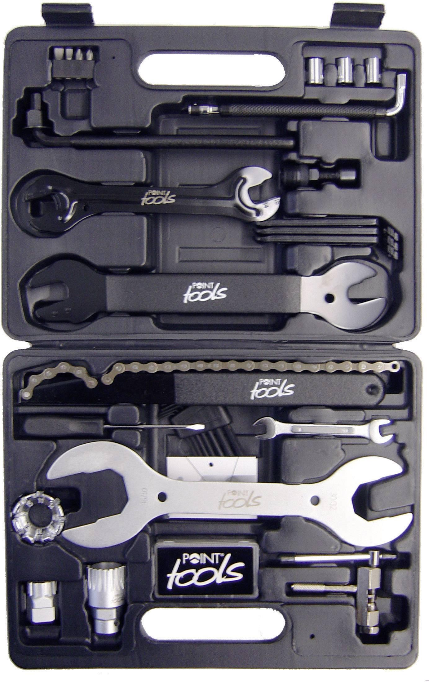 Sada nářadí v kufříku pro cyklisty Point Toolbox 32, 32dílná