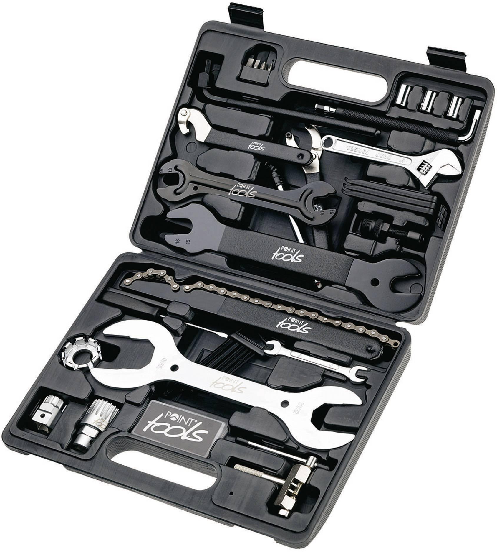 Sada nářadí v kufříku pro cyklisty Point Toolbox 36, 36dílná