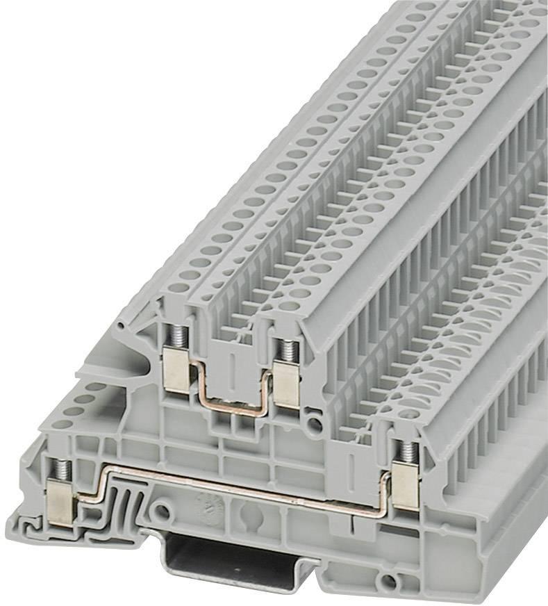 Vícenás. instalační svorka Phoenix Contact UTI 2,5-L/L (3076031), šroubovací, šedá