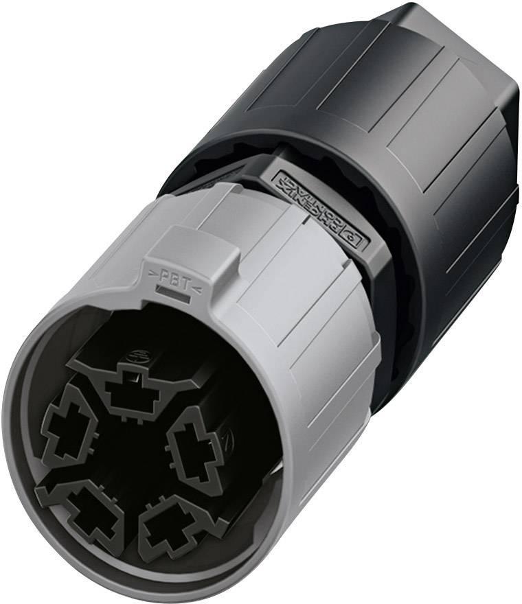 QUICKCON konektor Phoenix QPD P 4PE2,5 6-11 BK (1403784), zástrčka rovná, 4 + PE , IP68