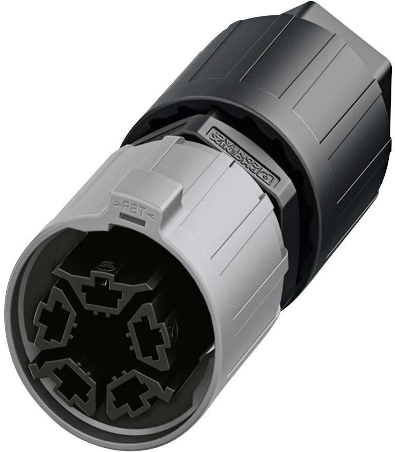 QUICKCON konektor Phoenix QPD P 4PE2,5 9-16 BK (1403782), zástrčka rovná, 4 + PE , IP68