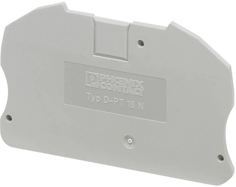 Zakončovací kryt Phoenix Contact D-PT 16 N (3212060), šedá